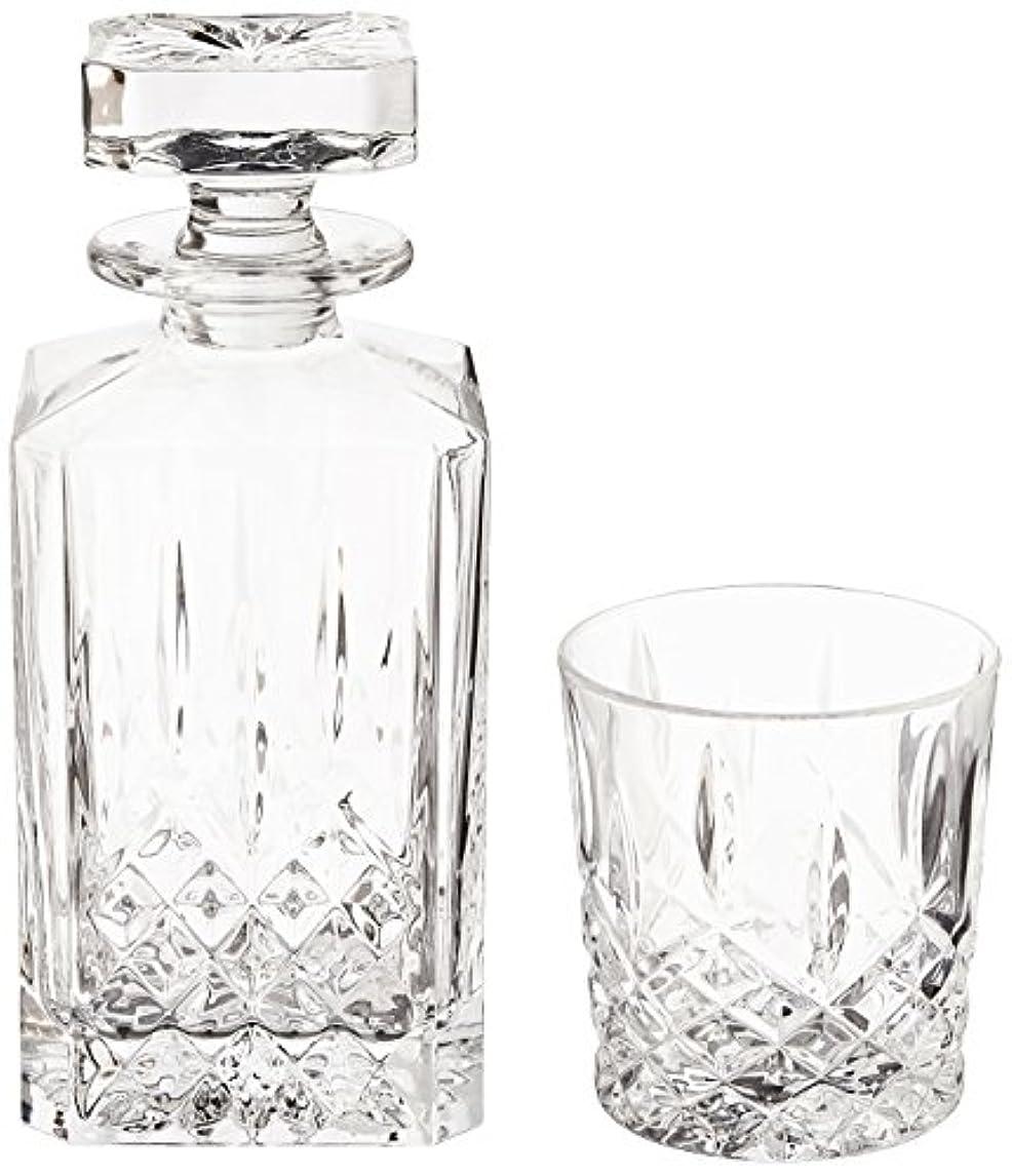 貢献前任者思い出(Decanter Set) - Marquis by Waterford Markham 330ml Double Old Fashioned Glasses Pair and Square Decanter Set, Unleaded Crystal
