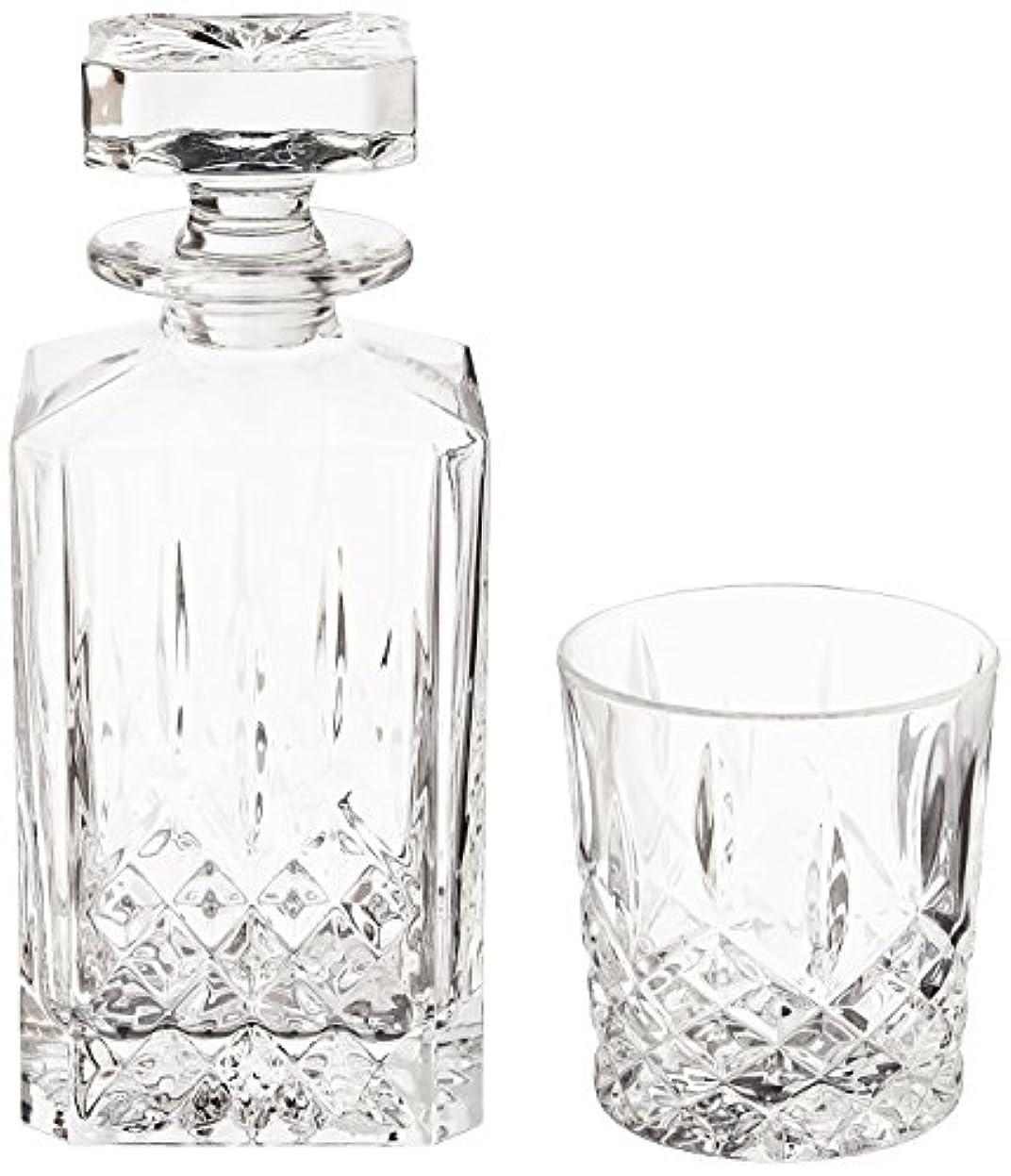 飢横に気怠い(Decanter Set) - Marquis by Waterford Markham 330ml Double Old Fashioned Glasses Pair and Square Decanter Set,...