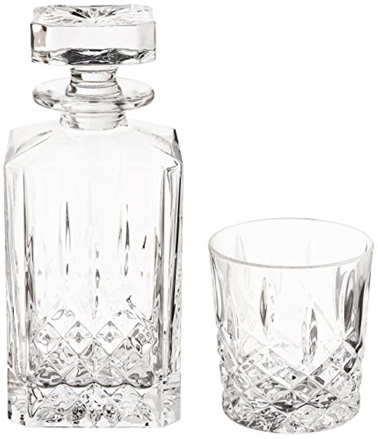 勝利したつらい動詞(Decanter Set) - Marquis by Waterford Markham 330ml Double Old Fashioned Glasses Pair and Square Decanter Set,...
