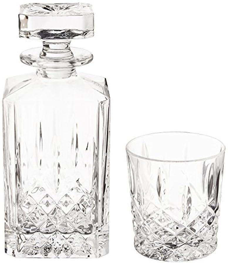 一生ベスト化学薬品(Decanter Set) - Marquis by Waterford Markham 330ml Double Old Fashioned Glasses Pair and Square Decanter Set,...