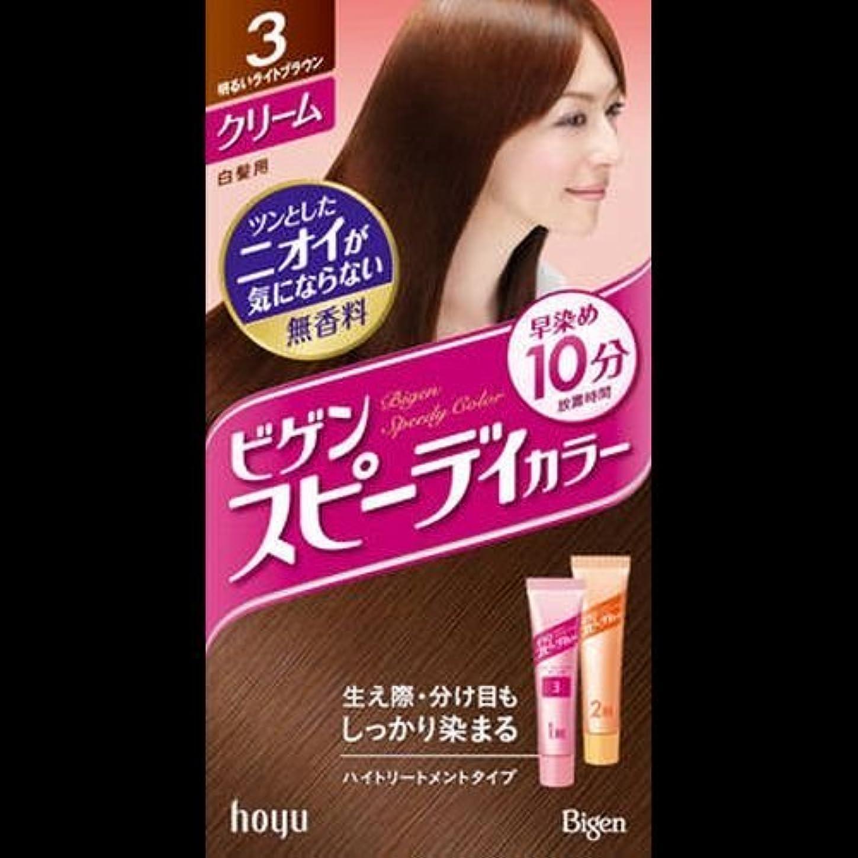 持続する意味のある女性ビゲンスピィーディーカラー クリーム 3 明るいライトブラウン ×2セット