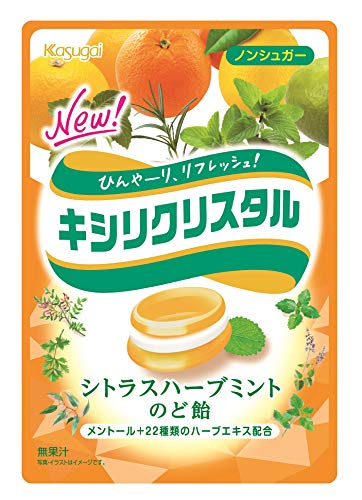 春日井製菓 キシリクリスタル シトラスハーブミントのど飴 71g×6袋