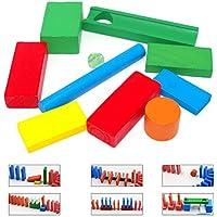 6種セット ドミノ用 倒し ギミック 積み木用 階段 仕掛け 木製 知育玩具 立体 ブロック おもちゃ