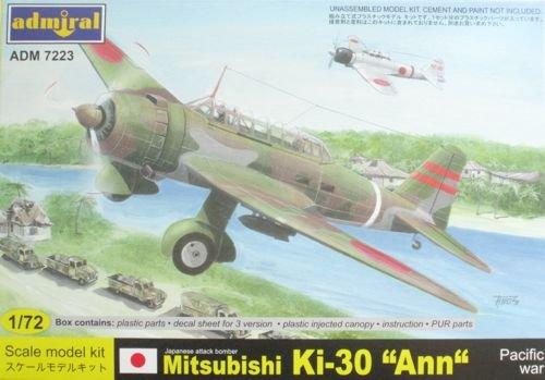 アドミラル 7223 1/72 三菱 キ-30 九七式軽爆撃機 <南方戦線>
