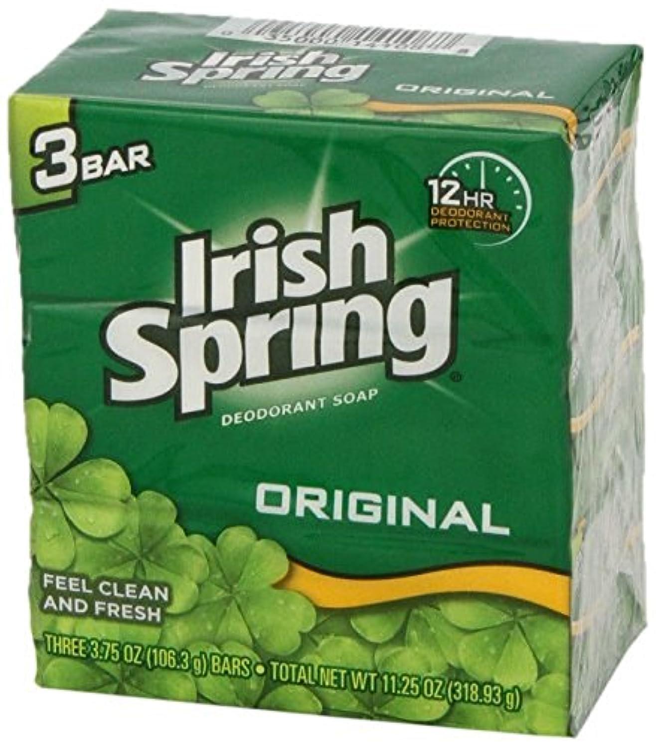 死ぬ流行している乗算Irish Springs アイルランドの春オリジナルデオドラント石鹸3のCt(24パック)