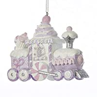Kurt Adler SUGAR PLUM GLITTERED CANDY AND CUPCAKE TRAIN ORNAMENT [並行輸入品]