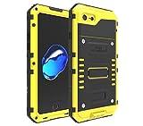 iphone6/6s/6splus/7/7plus 専用スマホケース 防水 アルミケース メタル 耐衝撃 デザイン かっこいい (iphone7, イエロー)
