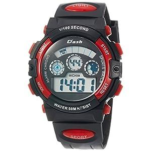 [アリアス]ALIAS 腕時計 デジタル DASH 5気圧防水 ウレタンベルト レッド ADWW17099-06 メンズ