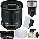 Nikon 24mm f / 1.8g af-s Ed Nikkorレンズwith 3フィルタ+フラッシュ+ソフトボックス+ディフューザー+キットfor DSLRカメラ
