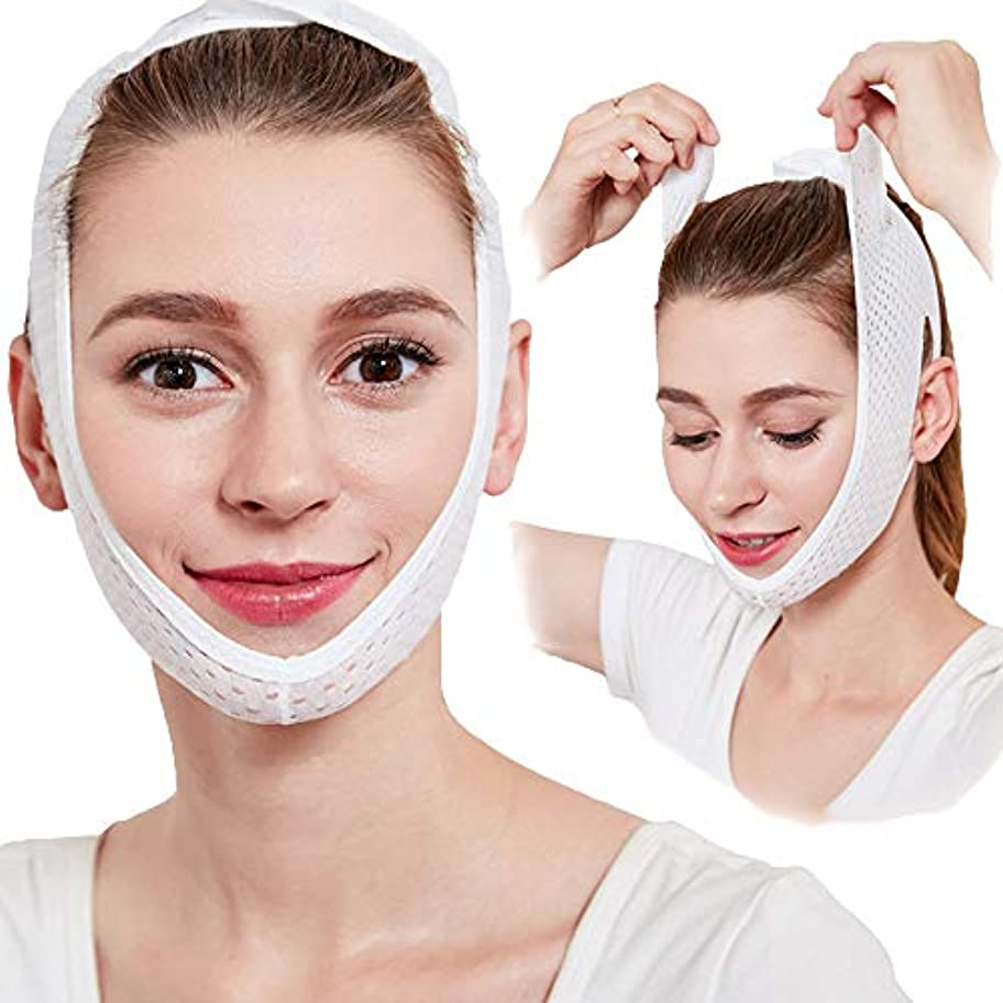 かんがい銅半導体女性用フェイススリミングマスク、フェイシャル用フェイシャルスリミングマスク、Vラインチンチークリフトアップバンド用女性フェイシャルスリミングマスクスリミングバンデージダブルチンケア