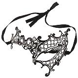 NEWHOUSE ラインストーン付きベネチアンマスク ブラック HG21 #BK