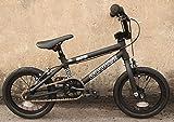 """軽量自転車☆朱色デザイナーモデル!【子供用14インチ】【ランバイク、バランスバイクの次の自転車】DURCUS ONE Kids / RECTUS KIDS BMX - 14"""" / マットブラック"""