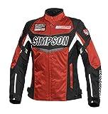 シンプソン(SIMPSON) バイク用ジャケット(レディース) Nylon Jacket (ナイロン ジャケット) レッド WM SJ-7132L