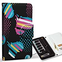 スマコレ ploom TECH プルームテック 専用 レザーケース 手帳型 タバコ ケース カバー 合皮 ケース カバー 収納 プルームケース デザイン 革 ラブリー フラワー ハート カラフル 004653
