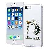 イングレム iPhone8 ケース / iPhone7 ケース ワンピース クリア ソフトケース + 背面パネル シャンクス&ルフィ (iPhone 8/7 対応 カバー) IJ-OP7TP/OP004