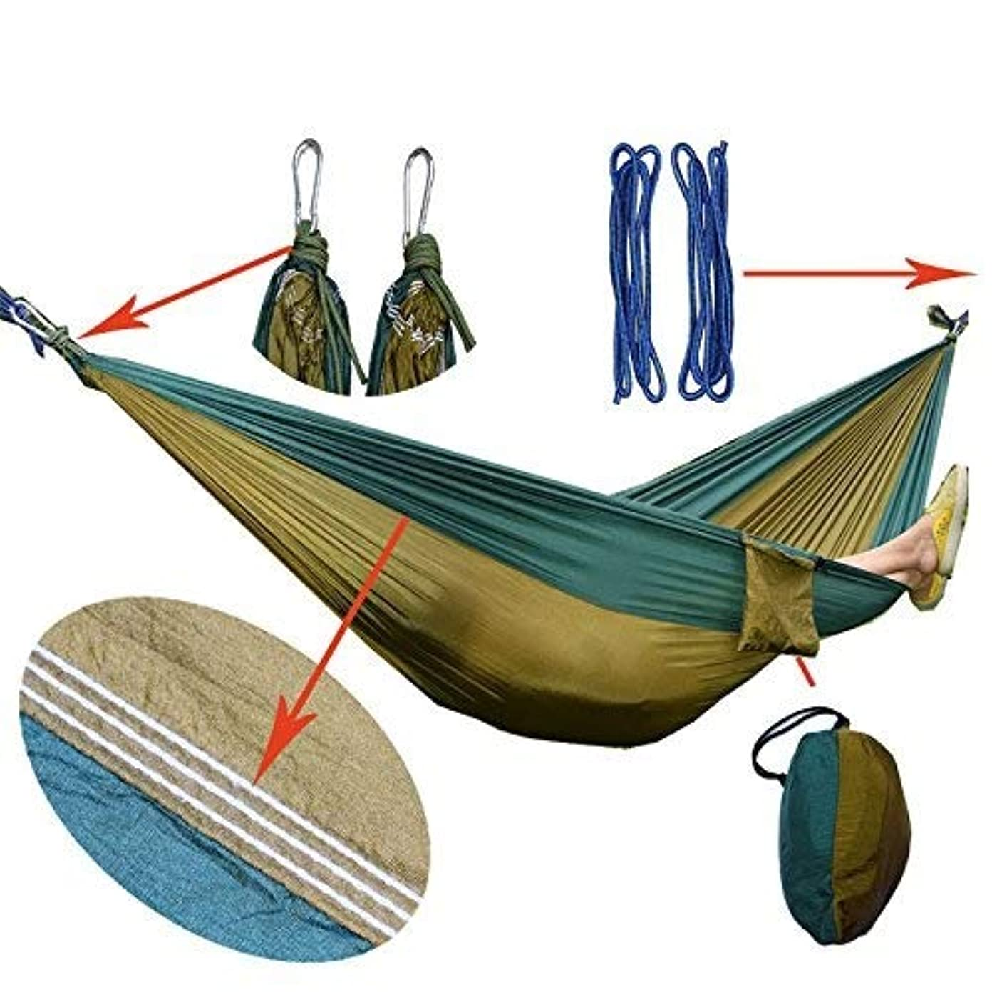飾り羽貫通する十分にハンモック ハンモック、軽くて持ち運びが簡単ハンモックキャンプハンモック屋外ハンモック家族レジャーハンモック ハンモックキャンプ