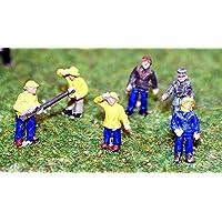 Langleyモデル6 Fisherman / trawler-men Figures N Scale未塗装キットa107