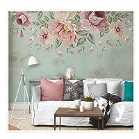 手描きの3D壁の壁画の壁紙花の壁画の背景3D写真の壁の壁画リビングルーム用のカスタム300 cm(W)* 200 cm(H)