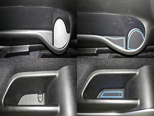 デリカD:2 MB36S/MB46S型 新型ソリオ SOLIO MA26S/MA36S型 ブラック 車種専用設計 インテリア ドアポケットマット ドリンクホルダー 滑り止め ノンスリップ 収納スペース保護 ゴムマット 新車 SUZUKI スズキ …
