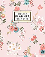 Weekly Planner 2020-2022: Cute Retro 3 Year Daily Planner & Organizer with Weekly Spread Views - Three Year Pretty Floral Schedule Agenda with Inspirational Quotes, To-Do's, Notes & Vision Boards