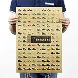 【未来ワールド】 44 ビンテージ風 コレクション アンティーク ポスター お部屋 店舗 模様替え (スニーカーコレクション)