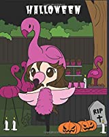 Halloween: Notebook College Ruled Journal Flamingo Costume