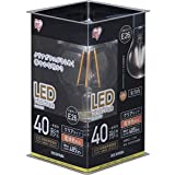 アイリスオーヤマ LED電球 フィラメント E26口金 40W形相当 電球色 全配光タイプ  クリア LDA4L-G-FC