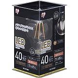 Amazon.co.jpアイリスオーヤマ LED電球 フィラメント E26口金 40W形相当 電球色 全配光タイプ  クリア LDA4L-G-FC