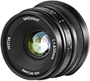 Neewer 25mm f/1.8 Large Aperture Wide Angle Lens Manual Focus APS-C Prime Fixed Lens Compatible with Canon EF-