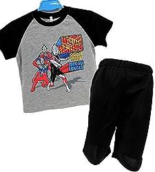 ウルトラヒーロー 半袖 Tスーツパジャマ 上下セット ボーイズ
