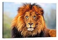 ライオントラヒョウのライオンNature–マスター寝室リビングルーム装飾–6時間グロー–親 24 x 36 inch ゴールド JL-KJMF-WI96