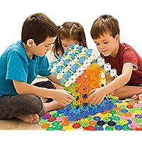 LoNtgスノーフレークビルディングブロックプラスチックDisc Brain Flakes Set Toy InterlockingプラスチックDisc教育Stemクリエイティブおもちゃ子供少年少女の開発教育on preschool 300 PCS building sets