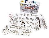 (ポフレ) pofule 知恵の輪 25種 チャイニーズリング 子供 も 大人 も 家族 で 楽しむ IQパズル
