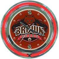 Brown University Neon Clock - 14 inch Diameter