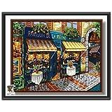ARTomo【アトモ】パズル油絵『フレーム付き』数字 油画 DIY 塗り絵 本格的な油絵が誰でも簡単に楽しく描ける 40x50cm (おいしいパン屋さん)