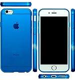 mtmd.jp iphone 6s & iPhone 6 対応 衝撃吸収 ハード シリコン ケース カバー 6s (つるつるタイプブルー)