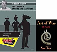 """Andrew Martin: First Steps in Gambits and Sacrifices & ChessCentral's """"Art of War"""" E-Book: (4 Item Bundle)"""