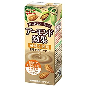 グリコ アーモンド効果 砂糖不使用 まろやかコーヒー 200ml×24本