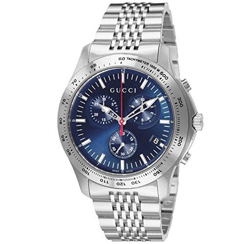 [グッチ]GUCCI 腕時計 G-TIMELESS ブルー文字盤 クロノグラフ デイト YA126256 メンズ 【並行輸入品】