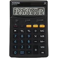 オーロラジャパン 電卓 12桁 税率切替スイッチ付 DT650TX‐B 黒