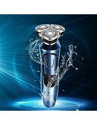 シェーバー 電動シェーバー メンズ 電気シェーバー 髭剃り USB充電式 1台3役 3枚刃 回転式 LEDディスプレイ IPX7防水 水洗可能 3D鼻毛カッター トリマー 洗顔ブラシ付き 多機能 安全ロック機能付き