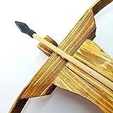Easy Raku® 弓道具 アーチェリー用品 おもちゃ 木製の弓 クロスボウセット 子供ピストルクロスボウ 矢10本と矢筒付属