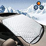 DaZone Windshield Snow Ice Cover,Winter Frost Guard Sun Shade Protector, Thicker Cotton Snow Removal Shield Windscreen Cover Waterproof All Weather for Most Car,Trucks and SUVs (Standard)