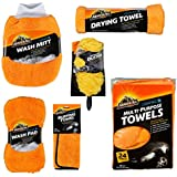 Armor All Microfiber Car Wash and Detailing Accessories Kit (6 Items)