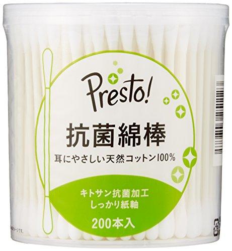 [Amazonブランド]Presto! 抗菌綿棒 200本x10個