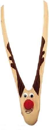 ワイルド サンタ V字 サスペンダー Tバック ショーツ 【 アイマスク + 収納袋 セット 】 サンタクロース トナカイ クリスマス 衣装 装飾 着ぐるみ ショーツ ハイレグ レオタード K-S01 (トナカイ)