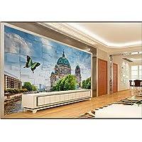 Ansyny 3D部屋の壁紙カスタム壁画不織画像ヨーロッパスタイルの建物テレビ設定壁絵画写真壁紙用壁-420X280cm