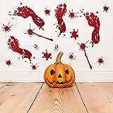 Rabugoo  血の手形足痕 ウォールステッカー ハロウィン パター ブラッディ フットプリント/フィンガーマーク 恐怖ブラッド 壁ステッカー デコレーション パーティー