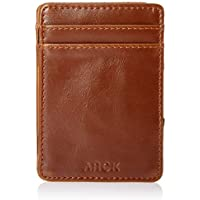 ARCK Ultra Slim Magic Wallet for Men and Women, Handmade Thin Leather Card Wallet, Incl. RFID Protection (Brown) - Great Gift Idea