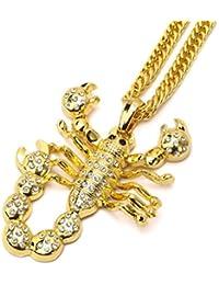 Tidoo Jewelry ヒップホップネックレス メンズ ゴールデンサソリペンダント 35インチチェーン